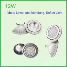 12W 12V/AC230V COB/3030 AR111 GU10/G53 Sockel LED Spot Leuchtmittel Lampe 24/36º