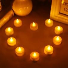 10 Stücke LED Teelichter Flackernde Batteriebetriebene Kerzenlampe Warmweiß