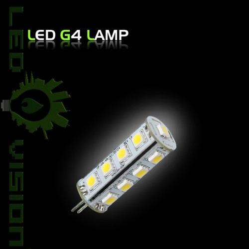 led lampe leuchtmittel g4 dc 12volt 17er 5050 smd leds reinweiss warmweiss. Black Bedroom Furniture Sets. Home Design Ideas