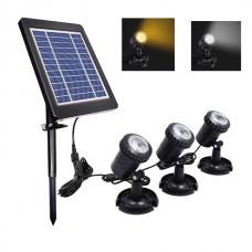 1W/2W/3W Solar LED Gartenlampe Gartenleuchte Gartenstrahler Spot Lampe IP65