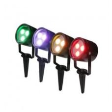 9W 12V RGB LED Gartenlampen Spots Erdspießstrahler Farbwechsel steuerbar IP65
