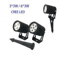 9W/15W DC24V/ AC230V CREE LED Garten Lampe Erdspießstrahler 15/30/45/60° IP67