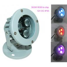 9W 12V RGB LED Gartenlampen Außen Garten Spots Farbwechsel steuerbar IP65