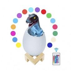 16-Lichtfarben USB LED 3D Dinosaurier Nachtlampe Nachtlicht mit Fernbedienung  wiederaufladbar