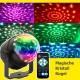 3W AC220V mini LED Bunt RGB Magische Kristall Kugel Rotationslampe mit Fernbedienung