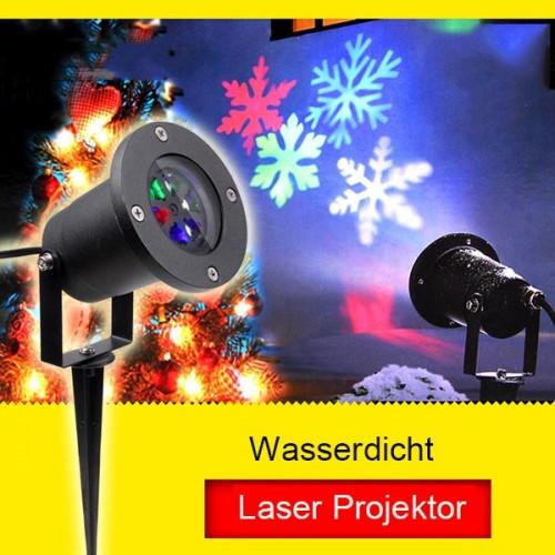 4w ac230v rgbw wei schneeflocke led laser projektor wasserdicht ip65. Black Bedroom Furniture Sets. Home Design Ideas