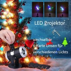 4W LED Projektor Laser Licht Weihnachten Deko Beleuchtung Innen IP20 mit EU Stecker