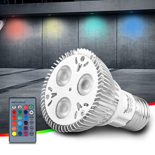 10W AC220V PAR20 E27 RGB LED Birne Spot Lampe IR Fernbedienung mit ...