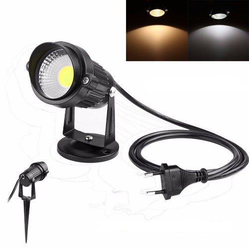 3w 5w ac230v cob led gartenlampe erdspie strahler mit 1meter kabel und eu stecker ip65. Black Bedroom Furniture Sets. Home Design Ideas