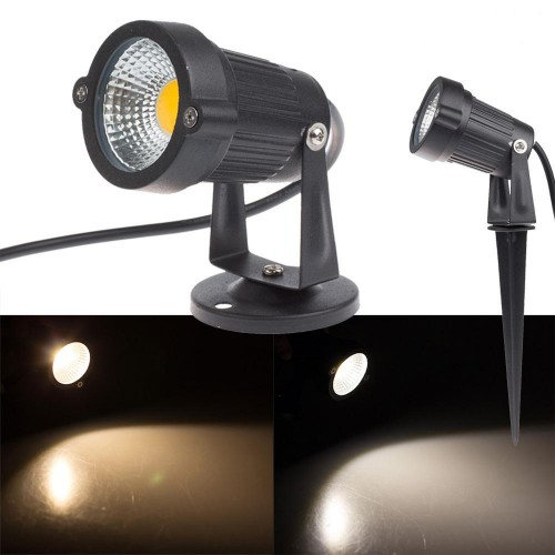 3w 5w 12v 230v cob led gartenlampe gartenstrahler for Led lampen 0 5 watt