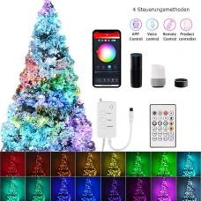 5M/10M USB RGBW LED Lichterketten Lichtband  Fernbedienung Wifi APP  Sprachsteuerung