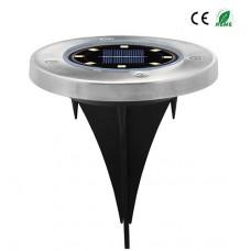 8 LEDs Solar LED Gartenlampe Bodenleuchte Wasserdicht IPX4 Kaltweiß/Warmweiß