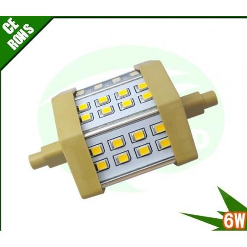 6w 78mm smd2835 r7s led stablampen leuchtmittel stabbirnen 24er smd2835 dimmbar. Black Bedroom Furniture Sets. Home Design Ideas