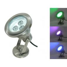 9W 12V RGB LED Unterwasserleuchte Aussen Strahler Farbwechsel aus Edelstahl IP68
