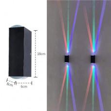 6W Bunte Kreative LED Wandleuchte Wandlampe Aussenleuchte Gebündeltes Licht IP65
