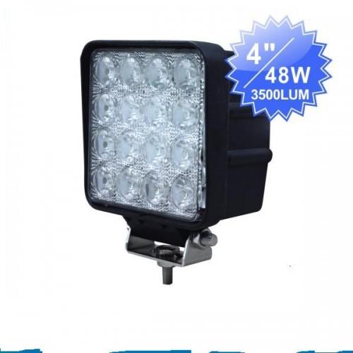 48w led arbeitsscheinwerfer zusatzscheinwerfer off road. Black Bedroom Furniture Sets. Home Design Ideas