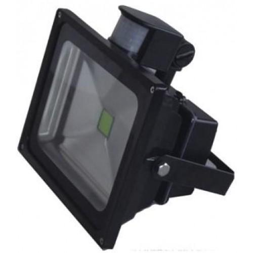 30w led fluter strahler aussen mit bewegungsmelder ip65 230volt sicherheitsbeleuchtung. Black Bedroom Furniture Sets. Home Design Ideas
