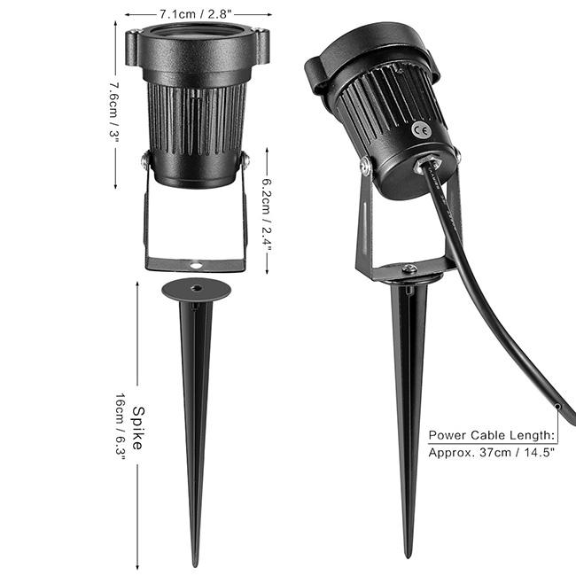 6w ac220v rgb led au enstrahler gartenstrahler spie strahler kabel mit eu stecker ip65. Black Bedroom Furniture Sets. Home Design Ideas
