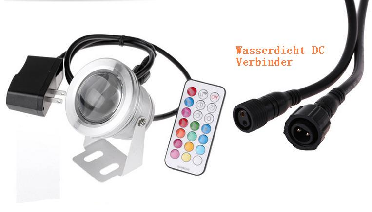 10w rgb led spot strahler unterwasserleuchte aquarium. Black Bedroom Furniture Sets. Home Design Ideas