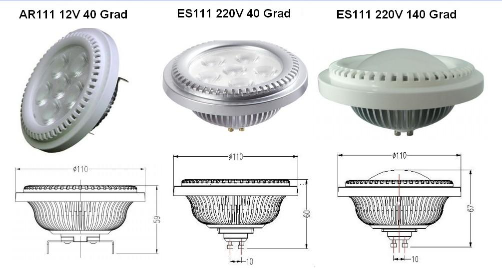 Led Strahler Auben Test : 8W 10W ES111 AR111 GU10 G53 LED Lampen ...