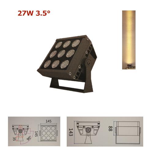 27w-ac220v-ulra-narrow-beam-LED-Fluter-Strahler-Spot-3.5-Grad-Fassaden-Wand-Hotel-Beleuchtung-01